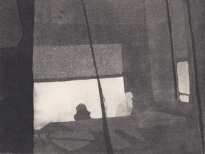 Staub XIV, Kaltnadelstich/Aquatinta, ca. 10x15 cm