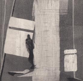 Staub I, Kaltnadelstich/Aquatinta, ca. 10x10 cm