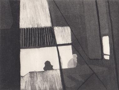 Staub VII, Kaltnadelstich/Aquatinta, ca. 10x15 cm
