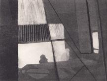 Staub XI, Kaltnadelstich/Aquatinta, ca. 10x15 cm