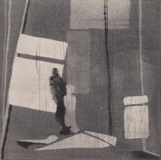 Staub II, Kaltnadelstich/Aquatinta, ca. 10x10 cm