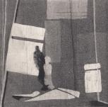 Staub III, Kaltnadelstich/Aquatinta, ca. 10x10 cm