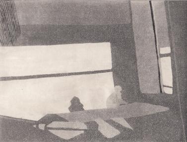 Staub XV, Kaltnadelstich/Aquatinta, ca. 10x15 cm