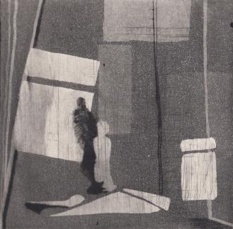 Staub IV, Kaltnadelstich/Aquatinta, ca. 10x10 cm