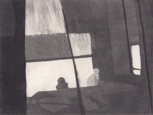 Staub XVII, Kaltnadelstich/Aquatinta, ca. 10x15 cm
